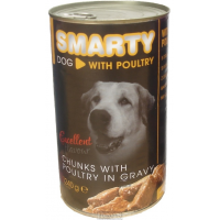 SMARTY DOG chunks with POULTRY in gravy 1240g
